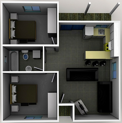Two Bedroom Designs | Smart Choice Granny Flats