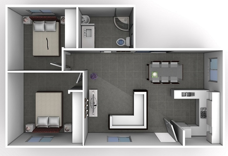 Two bedroom designs smart choice granny flats - Design two bedroom flat ...