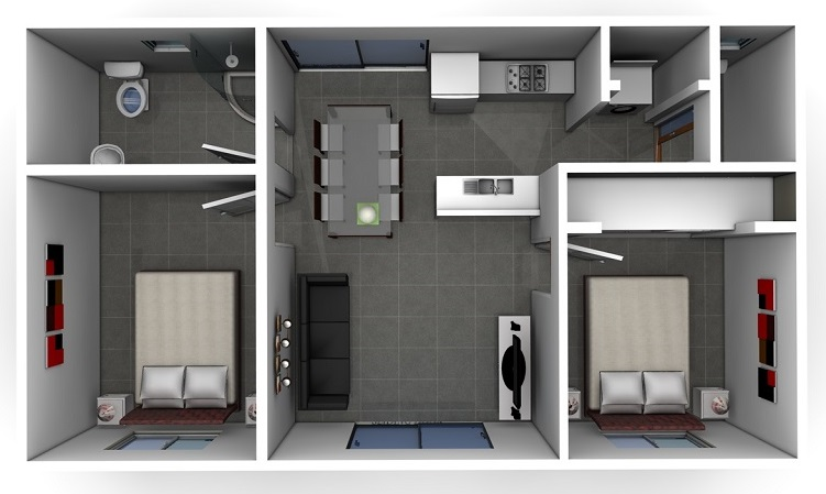 The Serge Two Bedroom Granny Flat Design
